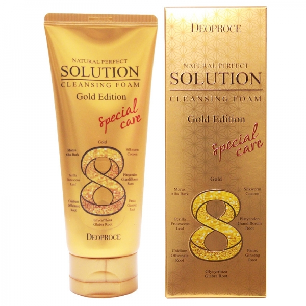 Deoproce Natural Perfect Solution Cleansing Foam Gold Edition-1.1