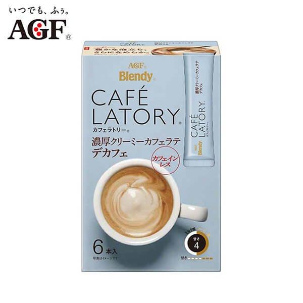 AGF Blendy Cafe Latory Rich Creamy Cafe Latte Decaf(6)-01s