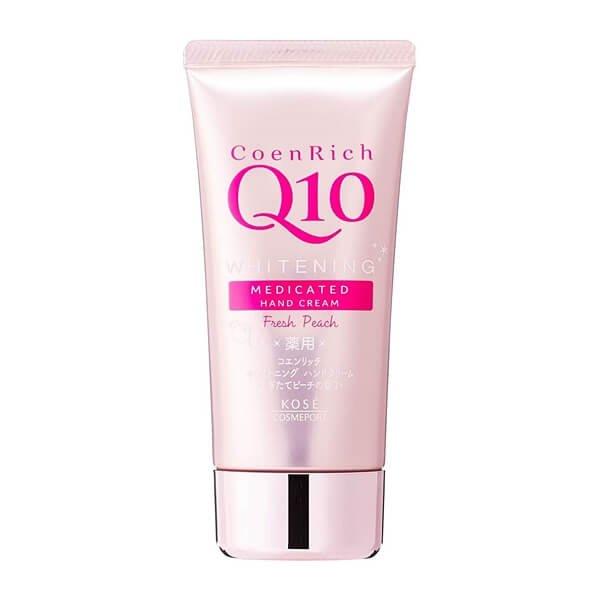 CoenRich Q10 Whitening Medicated Hand Cream (Peach)-02s